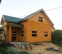 Дома из бруса, сделанные работниками Север-Дерево-Строй_1